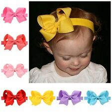 Beautiful Kids Baby Girl Toddlers Flower Elastic Headband Hair Bows Bands