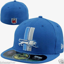 DETROIT LIONS NFL AUTHENTIC ON FIELD NEW ERA 59FIFTY FITTED BLUE HAT/CAP NWT
