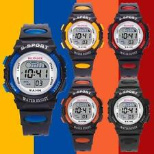 Waterproof Children Boys Digital LED Sports Watch Kids Alarm Date Watch Gift