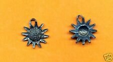 lead free pewter sun flower charm 1059