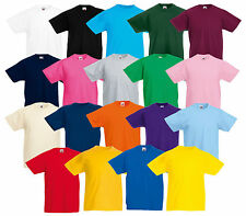 FRUIT OF THE LOOM KIDS T-SHIRT VALUE WEIGHT VARIOUS COLORS 104-164 NEW