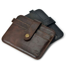 New Men's Leather Magic Money Clip Slim Wallet ID Credit Card Holder Case Purse