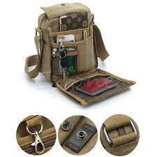 Men's Vintage Canvas Leather Satchel Military Shoulder Bag Messenger Bag School