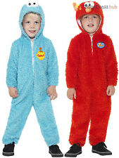 Childs Sesame Street Costume Girls Boys Elmo Cookie Monster Fancy Dress Kids TV
