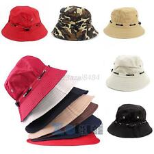 Unisex Fishing Bucket Canvas Boonie Hat Sun Visor Cap Travel Outdoor Hat Sun Hat