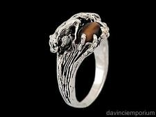Sterling Silver Mountain Lion Cougar Ring