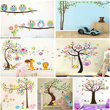 Cute Owl Tree Wall Stickers Home Decal Art Removable Decor Kids Nursery Bedroom