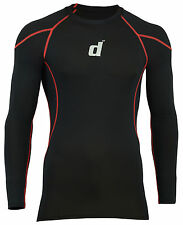 Didoo Mens Full Sleeve Shirts Compression Base Layers Skin Fit Tops Running Wear