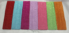 GLITTER LYCRA HEADBAND GREAT COLORS* 2 1/4 wide* HOT ITEM VERY STRETCHY & SOFT