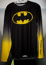 BATMAN UNDER ARMOUR ALTER EGO LONG SLEEVE COMPRESSION GRADIENT BLACK SHIRT  NWT