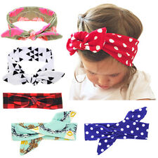 DIY Cute Baby Kids Girl Bow Headband Rabbit Ears Hair band Turban Knot Head Wrap