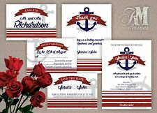 Personalised Wedding Invitations Thank you cards RSVP Nautical Theme