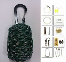 550 Paracord 20 Item Survival Pod Kit Tactical Pack Military Gear 56 Colors
