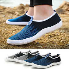 Mens Flat shoes breathable mesh casual Sneakers Running Comfortable Loafers Soft