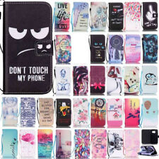 For iPhone SE Patterned magenetic flip case PU leather wallet cover stand+TPU