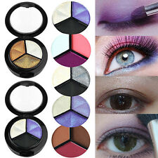 3 Colors Eyeshadow Natural Smoky Cosmetic Eye Shadow Palette Set Beauty Make Up