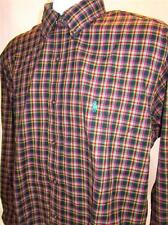 Mens new Polo Ralph Lauren Classic Fit oxford shirt size large plaid long sleeve