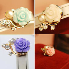 Crystal Flower Earphone Jack Anti Dust Plug Cap Stopper for CellPhone 3.5mm 4H9
