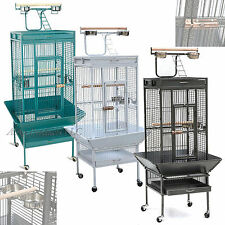 """Large 61"""" Bird Cage Play Top Parrot Finch Cockatoo Macaw Perch Feeder Pet House"""