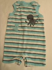 GYMBOREE Baby Boys 0-3 Month Striped Octopus Pirate One Piece Summer Outfit NWT