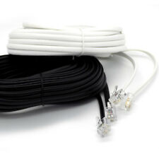 HQ RJ11 to RJ11 Cable ADSL BT Phone Line Broadband Modem Router WHITE