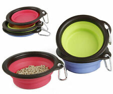Pet Dog Bowl Feeder Collapsible Expandable Foldable Dog Feeding Water Food Bowls