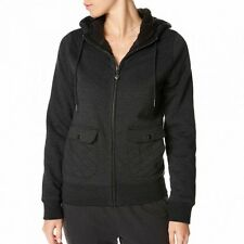 VOLCOM ALASKA ZIP FLEECE JET WOMENS CASUAL JUMPER HOODIE SKATEBOARD CLEARANCE