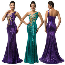 GRACE KARIN Mermaid Long Sequins Ball Gown Evening Prom Party Wedding Dress 2-16