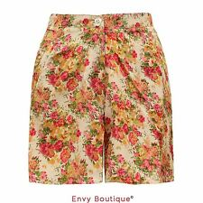 NEW WOMENS LADIES FLORAL PRINT SHORTS MINI PANTS HIGH WAIST BEACH SUMMER SHORT