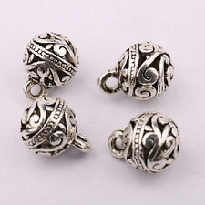 10/20 Pcs Wholesale Tibet Silver Round Beads Charm Pendants Crafts  Finding DIY