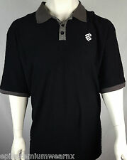 Mens Rocawear Polo Black Grey T-shirt BNWT 3XL Big and Tall Plus Size  LAST ONE!