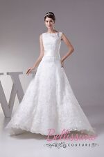 Plus Size Lace Corset WEDDING Dress Bridal GOWN SIZE18-28 WDH1-292