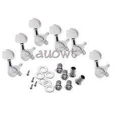New 6R Guitar Manual Locking Tuners Semicircle Button Plated Heads Guitar Tuners