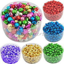 100Pcs Colorful Iron Loose Beads Christmas Jingle Bells Pendants Charms 8x6 mm