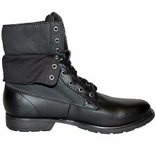 BB NEW MENS BLACK VOI JEANS TROY DESIGNER LACE UP LEATHER BOOTS SHOES SIZES 6-13