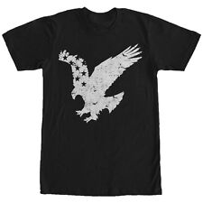 Lost Gods Flying Eagle American Flag Mens Graphic T Shirt