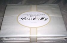 $355 Peacock Alley 100% Cotton Sateen 310TC Full Sheet Set Ivory RARE!