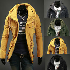 Fashion Double personality collar side pocket Men's luxury leisure jacket coat