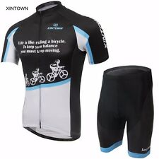XINTOWN Men Bicycle Cycling Jersey Riding Outdoor Short Sleeve Bike (Bib) Shorts