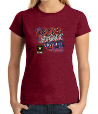 Proud WIFE Junior Fit T-shirt for Ladies Patriotic US Army Wife - 1205C
