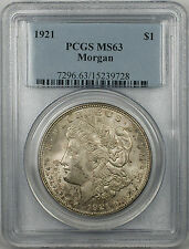 1921 Morgan Silver Dollar $1 PCGS MS-63 Toned (BR-27 T)