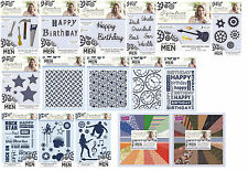 Crafters Companion Sara Signature Collection JUST FOR MEN CardMaking Range