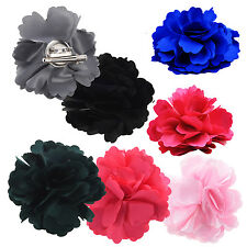 Silk Flower Hair Clip Wedding Corsage Flower Clip 8cm WD