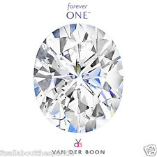 Oval Cut Forever One® Moissanite Loose Stone, Charles & Colvard®