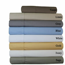 Un-Attached Waterbed 650 TC Wrinkle Free Egyptian Cotton Blend Sheet Sets