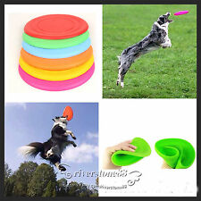Soft  Light Silicone Rueeer Pet Dog Toy Puppy Beach Frisbee Fetch Throw Exercise