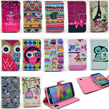 For Samsung Galaxy New Magnetic Patterned Flip Wallet Leather Stand Case Cover