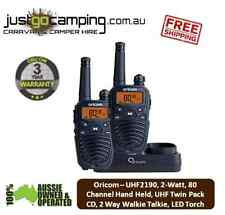 Oricom - UHF2190, 2-Watt, 80 Channel Hand Held, UHF Twin Pack CB Radio 2 Way Wal