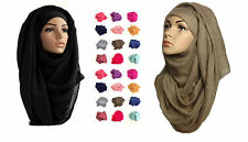 Ladies Fashion Big Large Maxi Long Wide Plain Viscose Scarf/Hijab Shawl/Wrap@vis