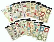Daisy D's Cardstock Die Cuts - Monograms/Tags -Most Double Sheets & Double Sided